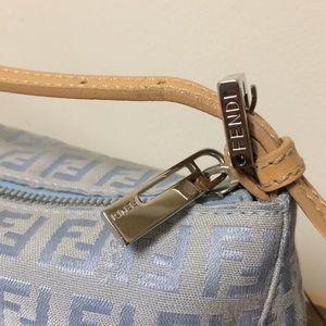 a0403c4c279f Fendi Bags - AUTHENTIC Fendi light blue monogram Pochette